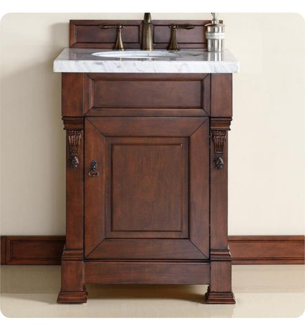 "Brookfield 26"" Single Cabinet, Warm Cherry"