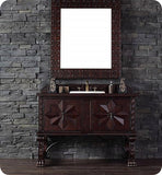 "Balmoral 48"" Single Vanity Cabinet, Antique Walnut"