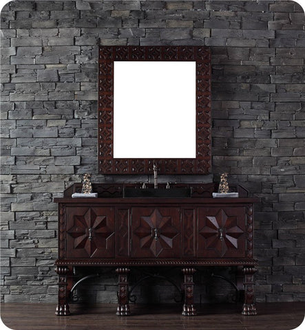 "Balmoral 60"" Single Vanity Cabinet, Antique Walnut"