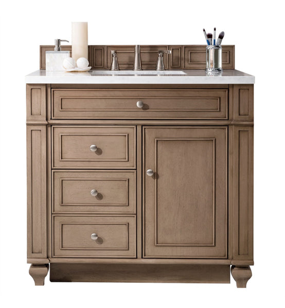 "Bristol 36"" Single Vanity, White Washed Walnut"