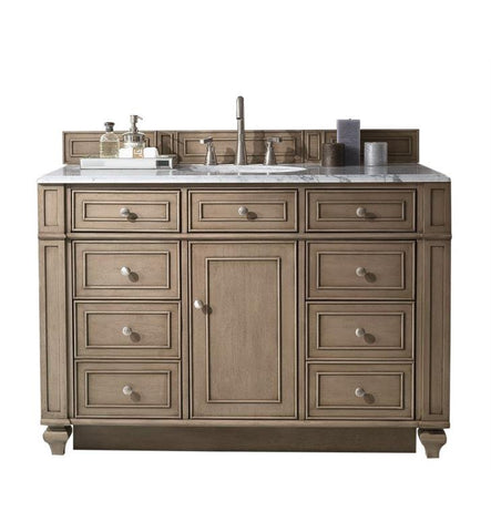 "Bristol 48"" Single Vanity, White Washed Walnut"