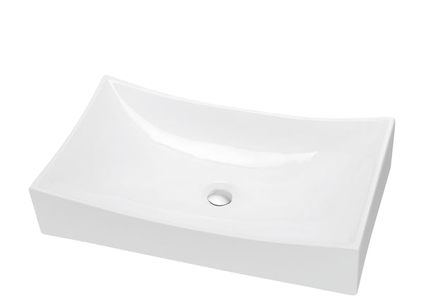 Dawn? Vessel Above-Counter Rectangle Ceramic Art Basin