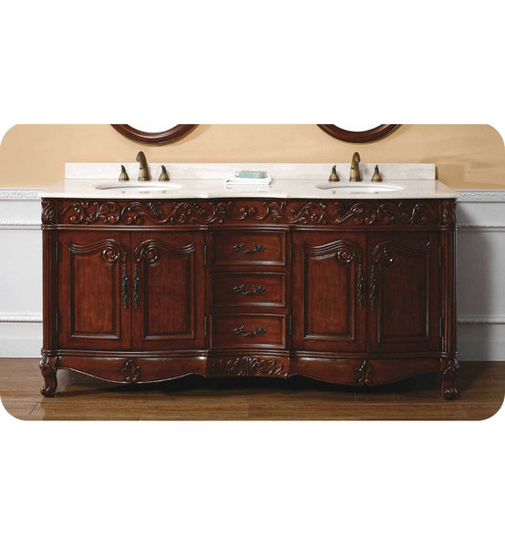 "Embassy 72"" Double Vanity, Cherry"