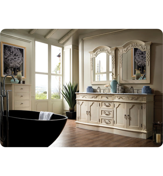 "Amalfi 72"" Double Vanity, Empire Gray"