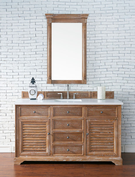 "Savannah 60"" Single Vanity Cabinet, Driftwood"