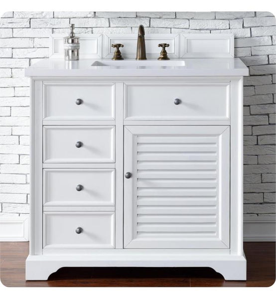 "Savannah 36"" Single Vanity Cabinet, Cottage White"