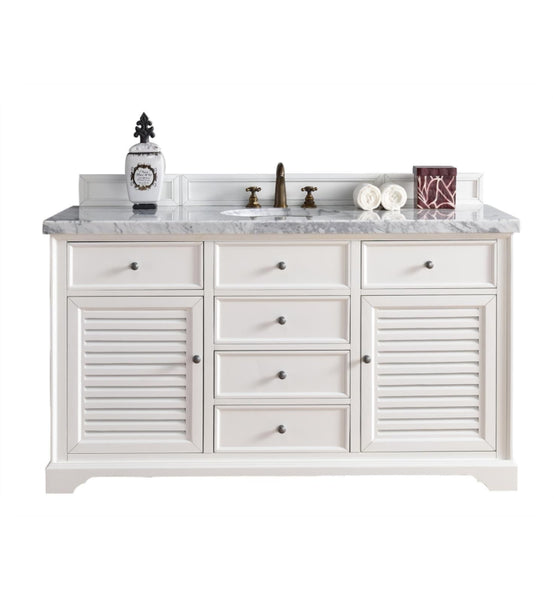 "Savannah 60"" Single Vanity Cabinet, Cottage White"