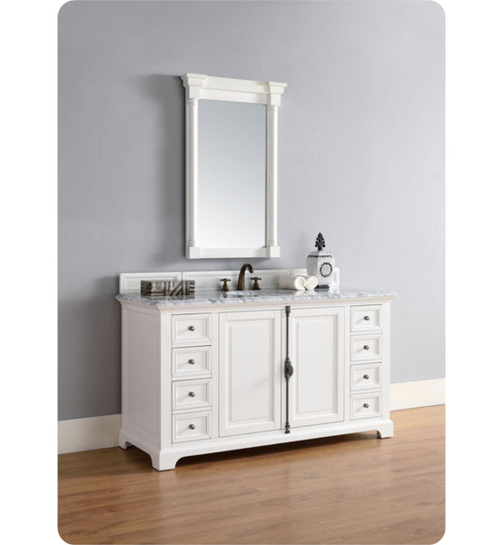 "Providence 60"" Single Vanity Cabinet, Cottage White"