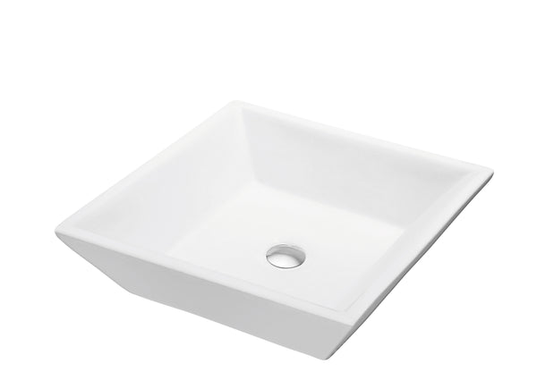Dawn? Vessel Above-Counter Square Ceramic Art Basin