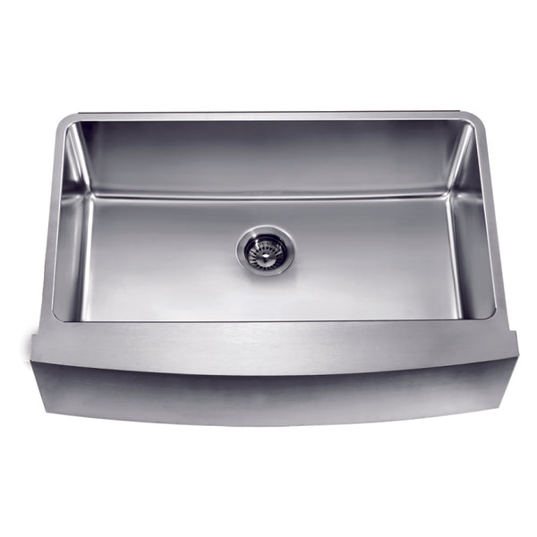 Dawn? Undermount Single Bowl with Curved Apron Front Sink