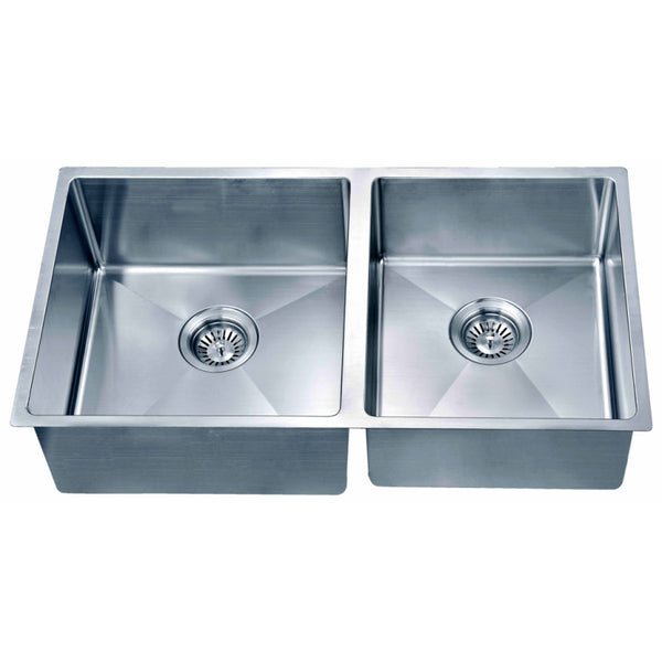 Dawn? Undermount Small Corner Radius Double Bowl Sink (Small Bowl on Right)