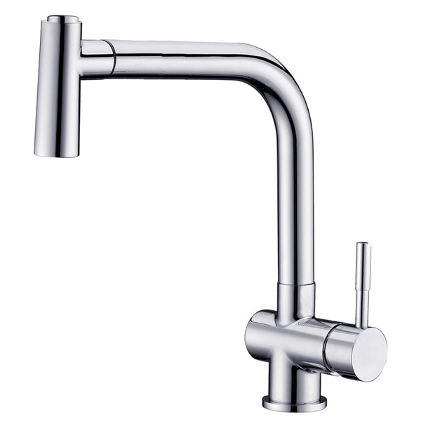 Dawn? Single-lever pull-out spray sink mixer, Chrome