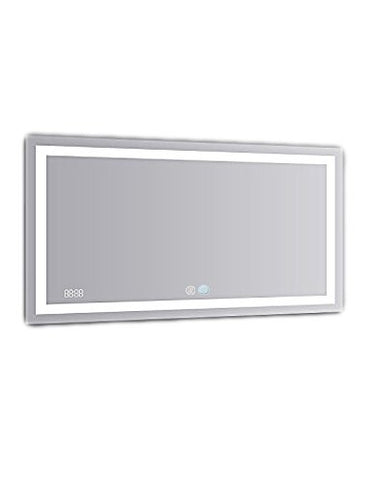 60x30 Aquadom 2018 Daytona LED mirrors are fully redesigned to make your bathroom the most exciting room in your home! New Cool and Warm Light Touch switch.Defogger Dimmer and Clock