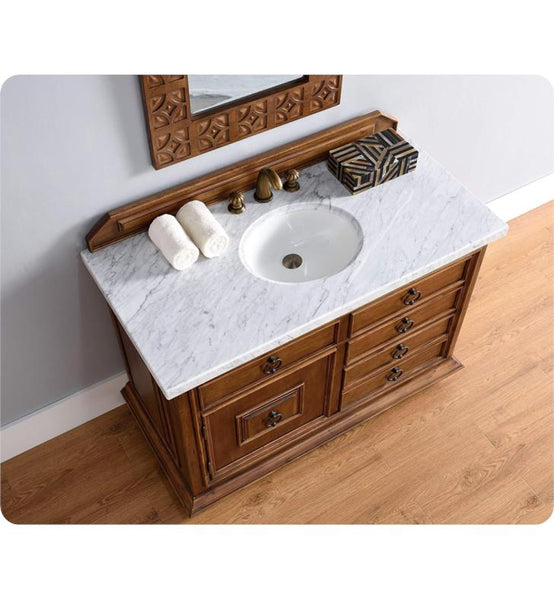 "Mykonos 48"" Single Vanity Cabinet w/ Drawers, Cinnamon"