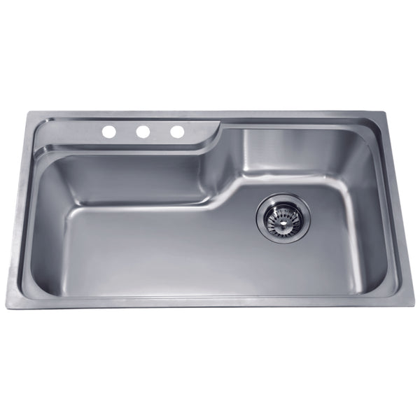 Dawn? Top Mount Single Bowl Sink with Three Pre-cut Faucet Holes