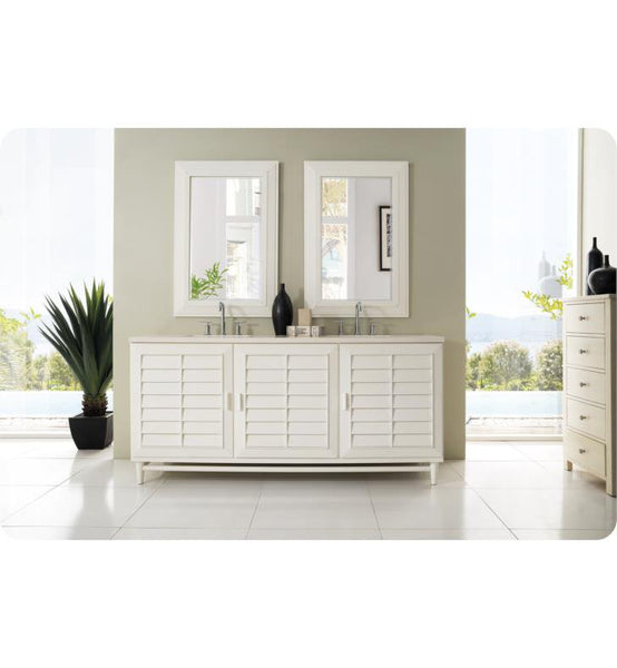 "Portland 72"" Double Vanity, Cottage White"