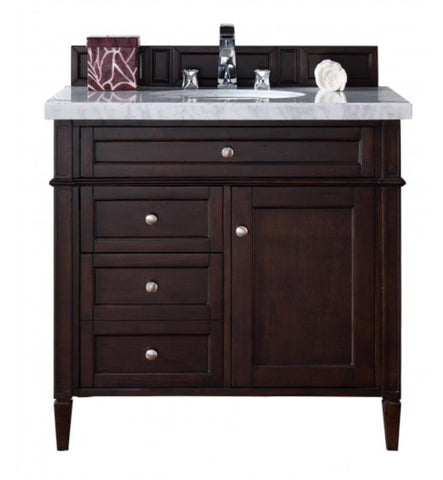 "Brittany 36"" Single Cabinet, Burnished Mahogany"