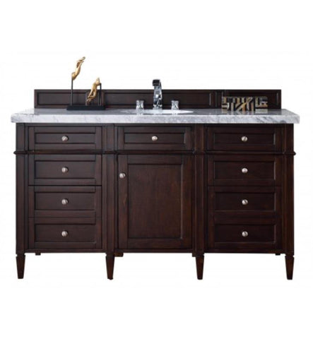 "Brittany 60"" Single Cabinet, Burnished Mahogany"