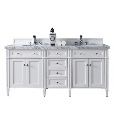 "Brittany 72"" Double Cabinet, Cottage White"