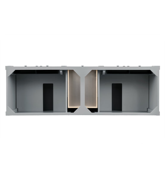 "Brittany 72"" Double Cabinet, Urban Gray"
