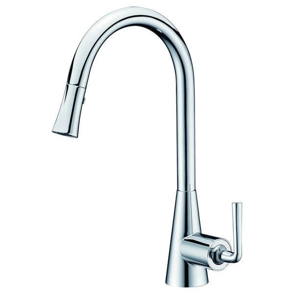 Dawn? Single-lever pull-down spray sink mixer, Chrome