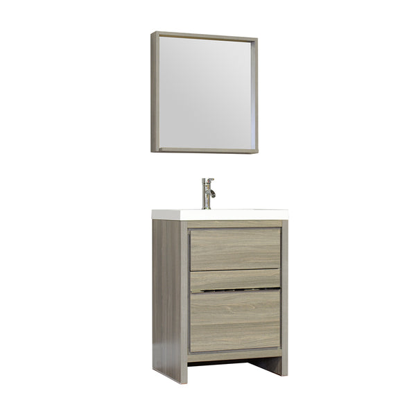 "Ripley 24"" Single Modern Bathroom Vanity Gray without Mirror"
