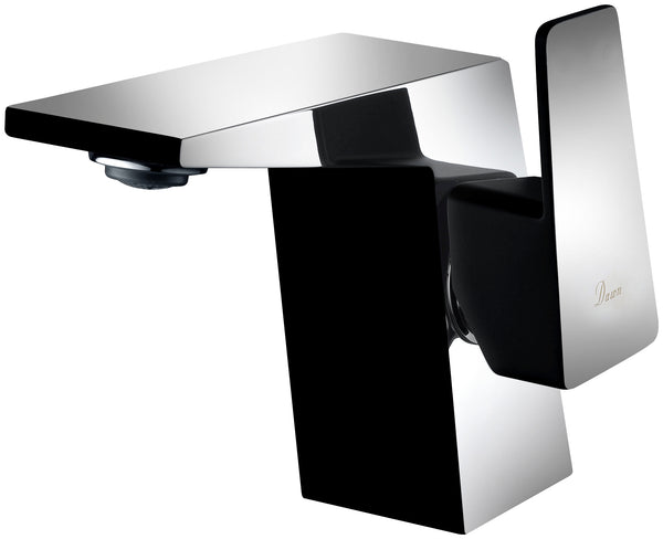 Dawn? Single-lever lavatory faucet, Chrome & Matte Black (Standard pull-up drain with lift rod D90 0010C included)