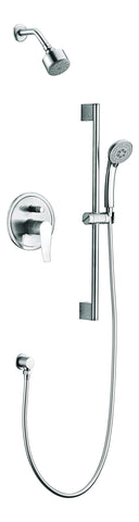 Dawn? Everglades Series Shower Combo Set Wall Mounted Showerhead with Slide bar handheld shower, Chrome