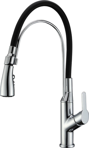 Dawn? Single-lever pull-out kitchen faucet, Chrome