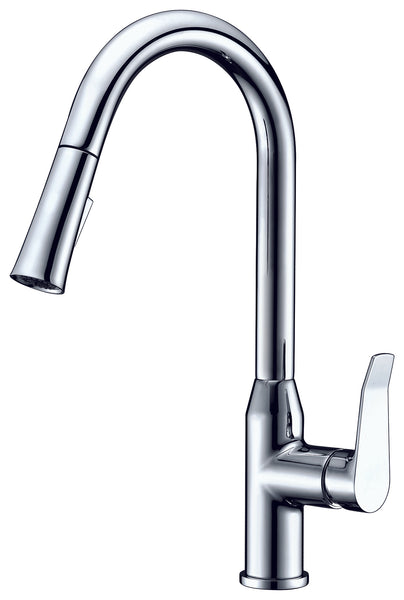 Dawn? Single-lever pull-down spray kitchen faucet, Chrome