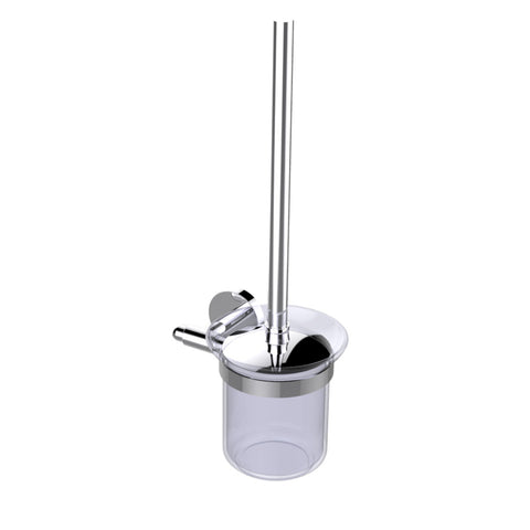 Eviva Cleansi Round Design Toilet Brush (Chrome) Bathroom Accessories