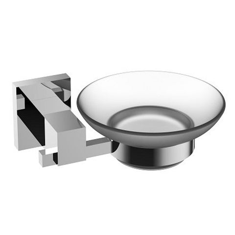 Eviva Panera? Frosted Glass Soap Dish, Holds As a Wall Mount (Brushed Nickel), Bathroom Soap Holders