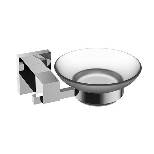 Eviva Panera? Frosted Glass Soap Dish, Holds As a Wall Mount (Chrome), Bathroom Soap Holders