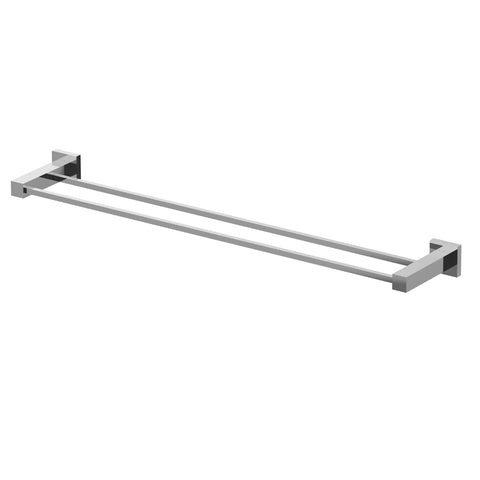 Eviva Twin Toweller Towel Bar (Brushed Nickel) Bathroom Accessories