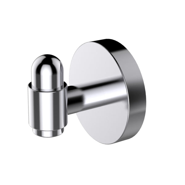 Eviva Bullet Towel or Robe Hook Round Design (Brushed Nickel) Bathroom Accessories