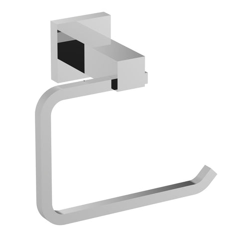 Eviva Square Holdy Toilet Paper Or Towel Holder (Chrome) Bathroom Accessories