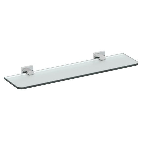 Eviva Klim Glass Shelf Wall Mount (Brushed Nickel) Bathroom Accessories