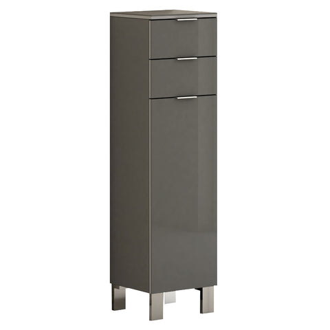 Eviva Geminis 14 inch Grey Free-Standing Side Cabinet