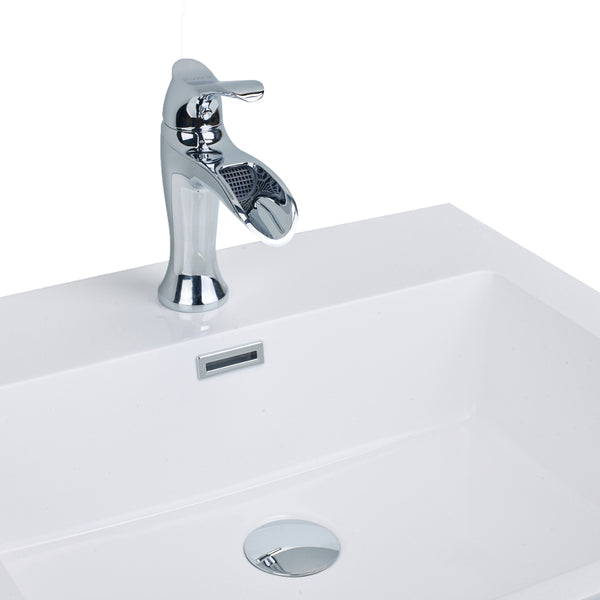 EVIVA Swan? Luxury Water-fall Single Handle (Lever) Bathroom Sink Faucet (Chrome)