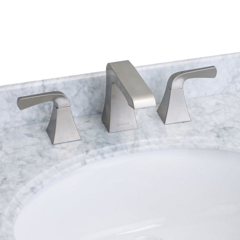 EVIVA Butterfly? Widespread (2 Handles) Bathroom Faucet (Brushed Nickel)