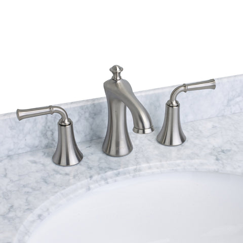 EVIVA Oceanbreeze? Widespread (2 Handles) Bathroom Faucet (Brushed Nickel)