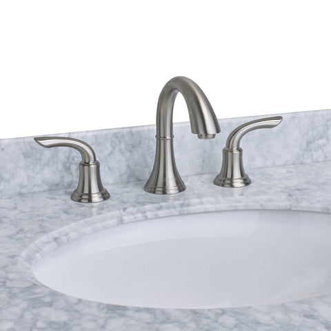EVIVA Friendy? Widespread (2 Handles) Bathroom Faucet (Brushed Nickel)