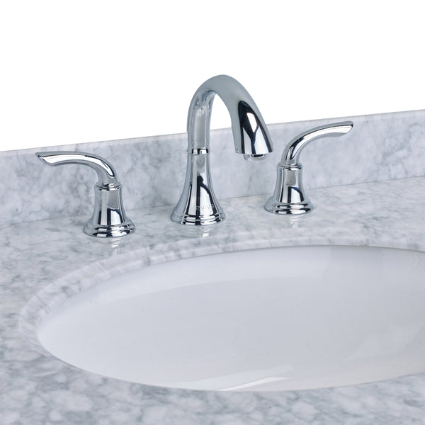 EVIVA Friendy? Widespread (2 Handles) Bathroom Faucet (Chrome)