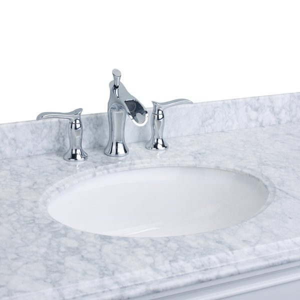 EVIVA Swan? Luxury Water-fall Widespread Three-Hole (2 Handles) Bathroom Sink Faucet (Chrome)