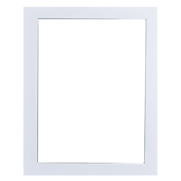 "Eviva Sun? 24"" White Framed Bathroom Wall Mirror"
