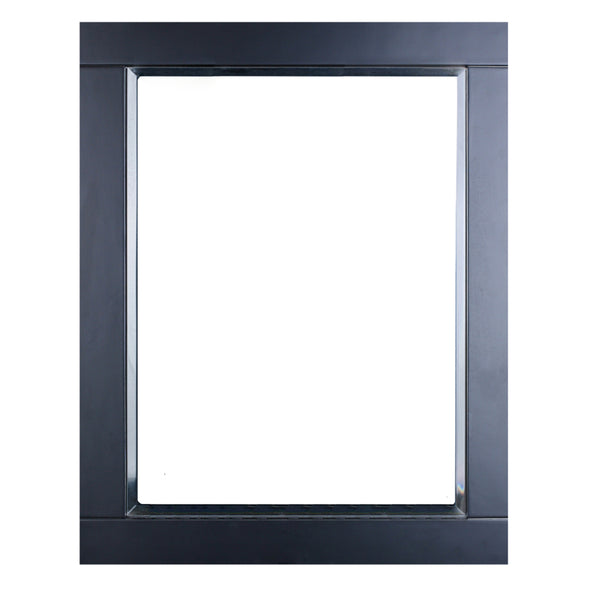 "Eviva Aberdeen? 24"" Espresso Framed Bathroom Wall Mirror"