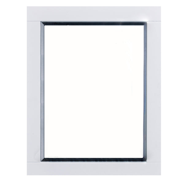 "Eviva Aberdeen? 24"" White Framed Bathroom Wall Mirror"