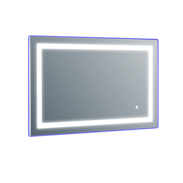 Eviva EVMR52-42X30-LED Deco Piece Wall Mounted Lighted Bathroom Vanity, Backlit LED Mirror with Frame Lights, 42? W X 30? H