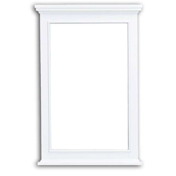 Eviva Elite Stamford White Full Framed Bathroom Vanity Mirror