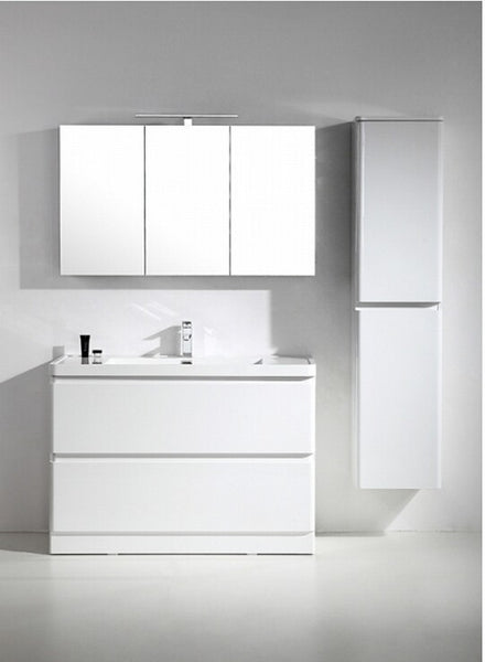 "Eviva Glazzy? 48"" Floor Mount Modern Bathroom Vanity with Single Sink (High Glossy White)"
